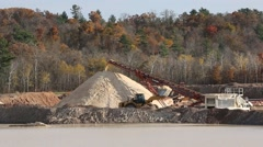 FRAC SAND MINE Stock Footage