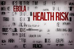Digitally generated ebola word cluster - stock illustration