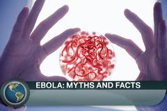Ebola news flash with medical imagery Stock Illustration