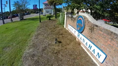 A sign welcomes drivers to Hanahan, South Carolina (2 of 4) Stock Footage