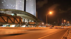 Night tel aviv. ayalon highway Stock Footage