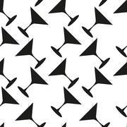 Martini seamless vector pattern - stock illustration