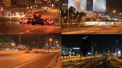 Miniatures night of Tel Aviv Stock Footage