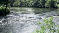 River in canyon Stock Footage
