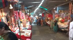 Market near Kangra temple, Kangra, HP Stock Footage
