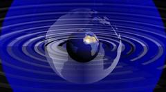 News-media topics Broadcast.  Loop able media backgraund. Blue. Stock Footage