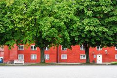 The storehouse in kastellet, copenhagen. Stock Photos