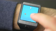 4K Game Apps Smartwatch Playing Stock Footage