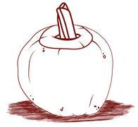 Pumpkin artistic halloween illustration Stock Illustration