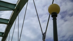 Speer Bridge Clouds Timelapse Stock Footage