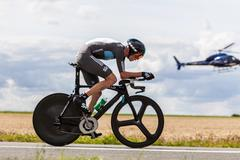 The british cyclist froome christopher Stock Photos