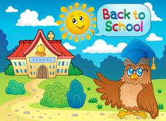 Back to school thematic image - illustration. Stock Illustration