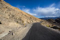 Stock Photo of high altitude road in himalayas