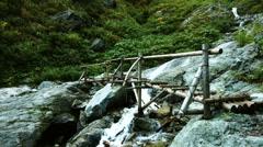 Wood bridge, color graded Full HD (1920x1080) Stock Footage
