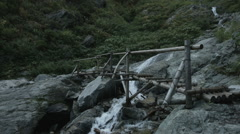 Wood bridge, non color graded Full HD (1920x1080) Stock Footage