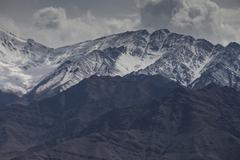 mountains, ladakh, india - stock photo