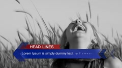News Lower Third Stock After Effects