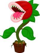 Cartoon Carnivorous plant Stock Illustration