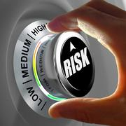 Concept of a button adjusting or minimizing potential risk Stock Illustration