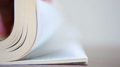 Book, flying pages. Shallow DOF. Canon 5D MK III Stock Footage