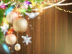 Holidays illustration with Christmas decor. EPS 10 - stock illustration