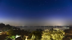 Varese lake and star trails Stock Footage