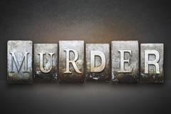Murder letterpress Stock Photos