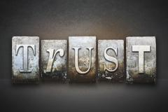 Trust letterpress Stock Photos