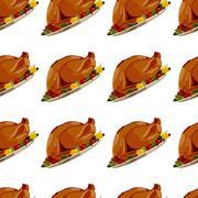 Roast Turkey - stock illustration