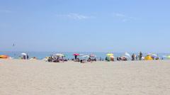 Spanish Summer Beach Scene Stock Footage