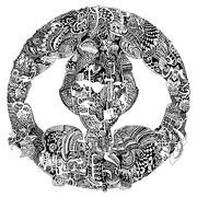 Abstract vector tribal ethnic mandala Stock Illustration