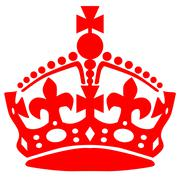 Stay calm crown Stock Illustration