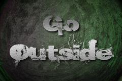 Go outside concept Stock Illustration