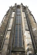 tower of the dom in aachen - stock photo