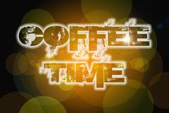 coffee time concept - stock illustration