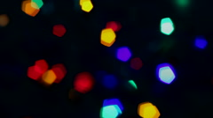 Christmas light defocus Stock Footage