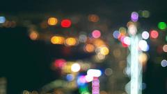 Hong kong night of victoria harbour Stock Footage