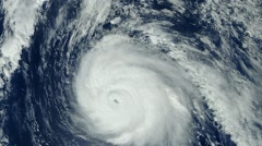 Hurricane GONZALO climbs up Bermuda - October 2014 Stock Footage