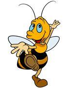 Dancing Bumblebee Stock Illustration