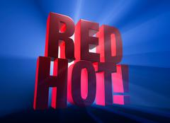 red hot! - stock illustration