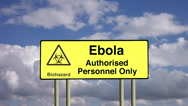 Stock Video Footage of Biohazard infection control authorised personnel only