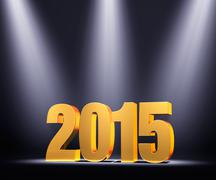 Stock Illustration of presenting new year 2015