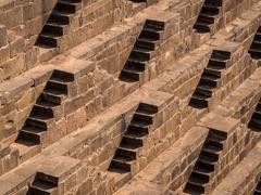 The Chand Baori Stepwell in Abhaneri, Rajasthan, India - stock photo
