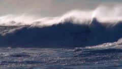 Stock Video Footage of Ocean storm wind waves sea spray