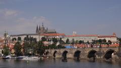 Spectacular Postcard Skyline Prague Landmarks Establishing Shot Great Cityscape Stock Footage