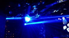 Blue Laser. Abstract nightclub background Stock Footage