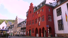 Streets of small German town (Bad Munstereifel). Stock Footage