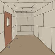 Empty prison cell Stock Illustration