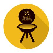 Barbecue grill - stock illustration