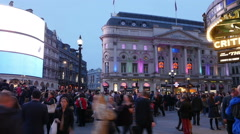 LONDON, UK – OCTOBER 16, 2014: Piccadilly Circus Stock Footage